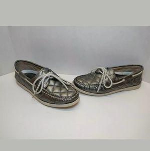 Sperry Top Sider Sliver Quilted Boat Shoes Size 7M